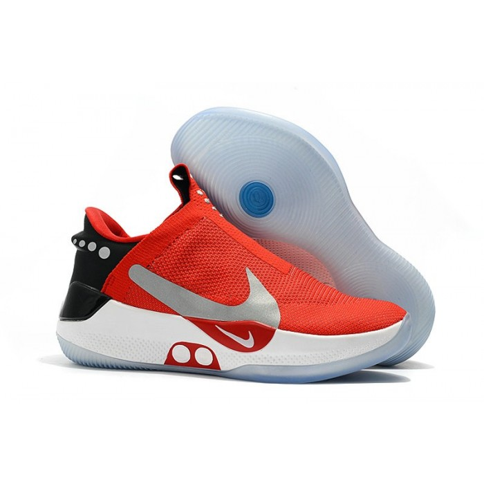 Men's 2019 Nike Adapt BB University Red Black White