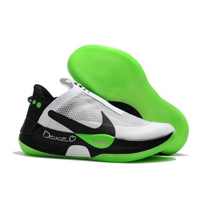 Men's 2019 Nike Adapt BB White Black Apple Green