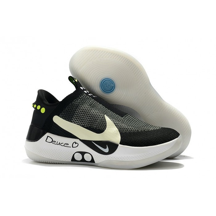 Men's Nike Adapt BB Black Pure Platinum Black White-Pure Platinum
