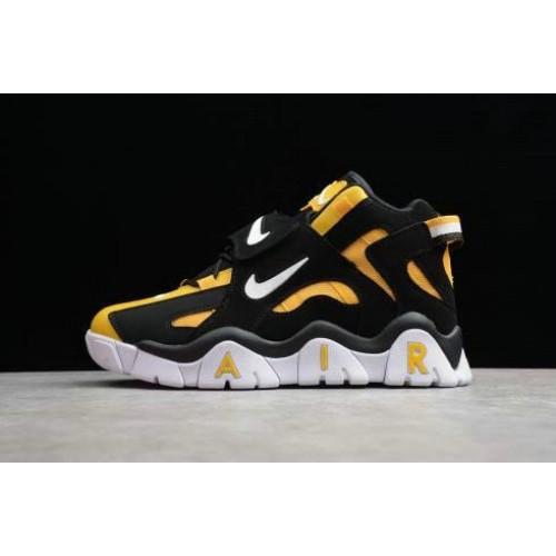 Men's 2019 Nike Air Barrage Mid QS Raptors Black Yellow