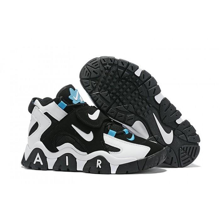 Men's Nike Air Barrage Mid Black White-Cabana AT7847-00