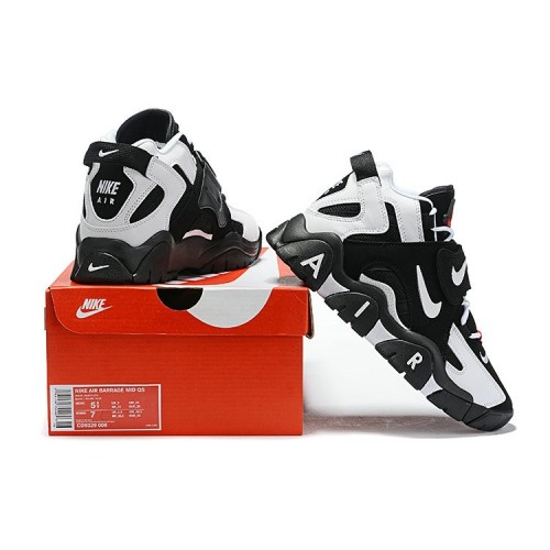 Men's Nike Air Barrage Mid Black White Gym Red