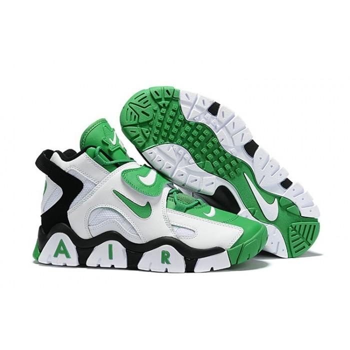 Men's Nike Air Barrage Mid Quickstrike Black White Green