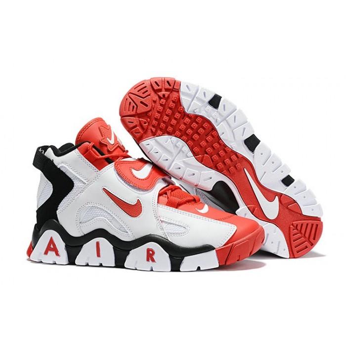 Men's Nike Air Barrage Mid Quickstrike Black White Red