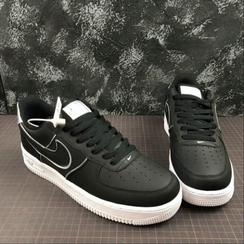 Women's 2019 Nike AT6147-001 Air Force 1 07 LV8 Lifestyle Black-Black