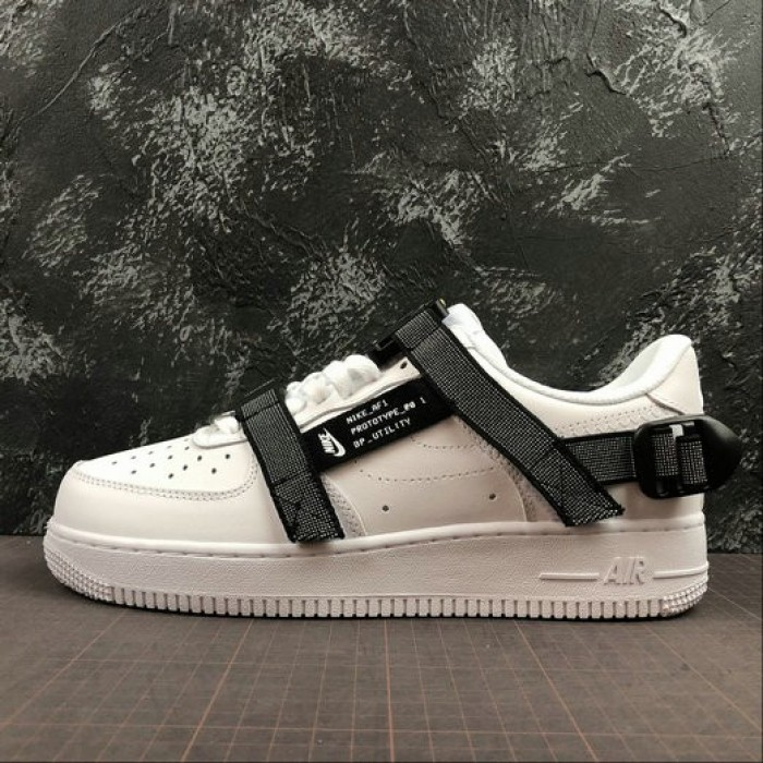 Women's 2019 Nike Air Force 1 07 LE Low All White Black