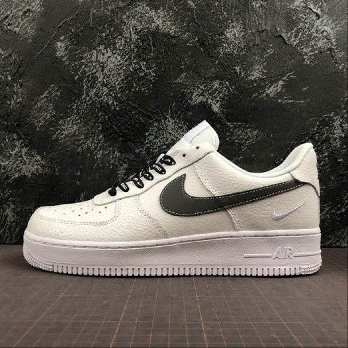 Women's 2019 Nike Air Force 1 07 LV8 AF1 Only Once White Red