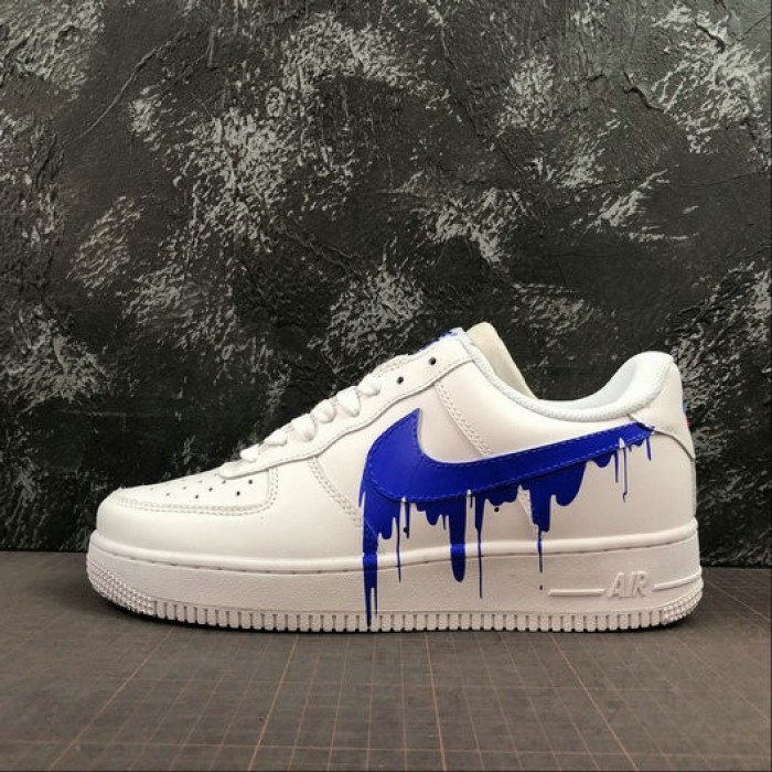 Women's 2019 Nike Air Force 1 07 Low Unisex Casual Shoes White Grey