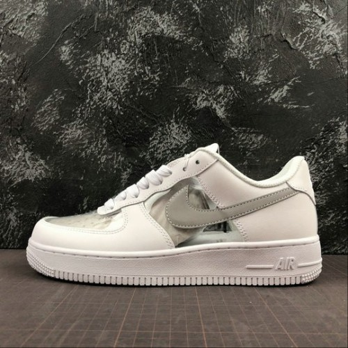 Women's 2019 Nike Air Force 1 07 shoe in White 315115-112