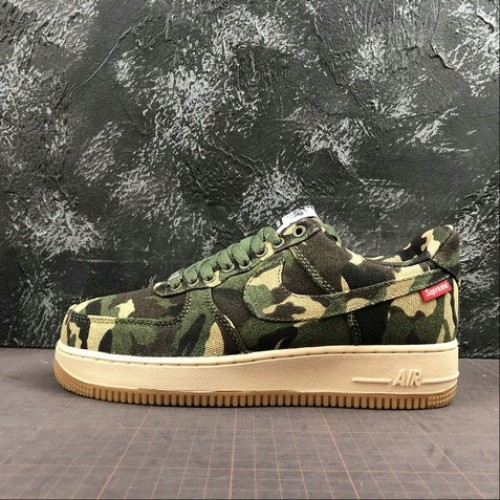 Women's 2019 Nike Air Force 1 07 x SUPREME Camouflage