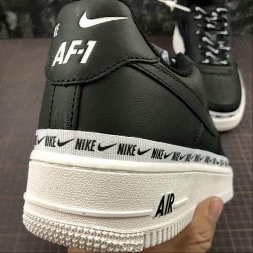 Women's 2019 Nike Air Force 1 Low Ribbon Pack Black AH6827-002