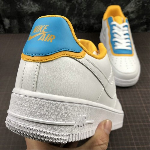 Women's 2019 Nike Air Force 1 Low SE AA0287-105 White Month Yellow
