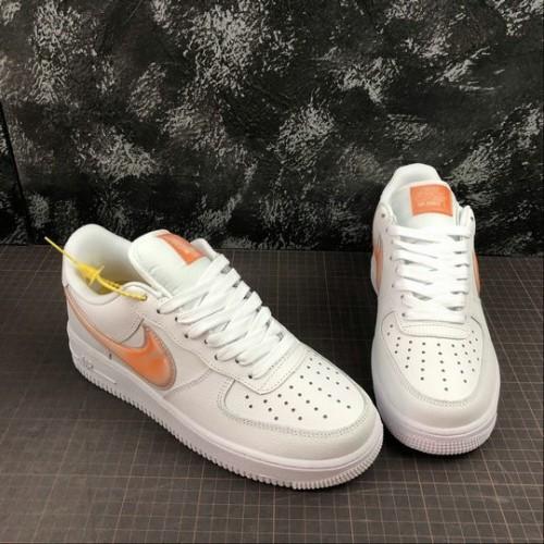 Women's 2019 Nike Air Force 1 Low White Orange Peel AO2441-102