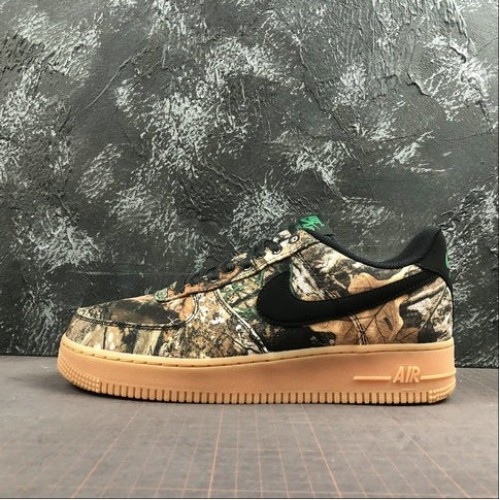 Women's 2019 Nike Air Force 1 Realtree Camp Green Camo