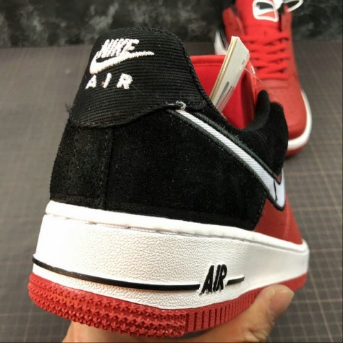 Women's 2019 Nike Air Force 1 Red Black AO2439-600
