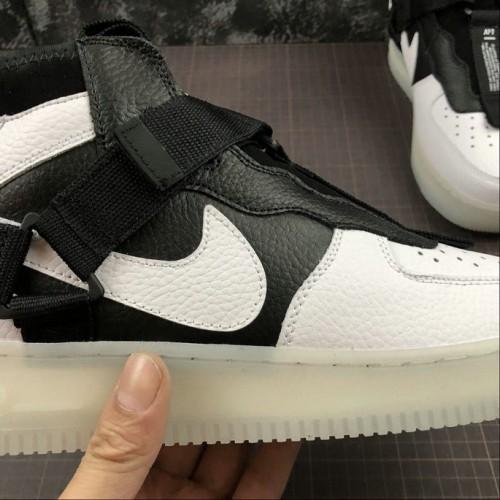 Women's 2019 Nike Air Force 1 Utility Mid White Light Bone