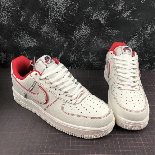Women's 2019 Nike Air Force 1 White Red