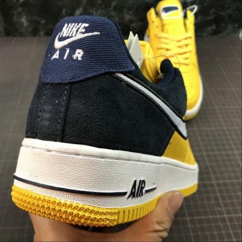 Women's 2019 Nike Air Force 1 Yellow Navy AO2439-700