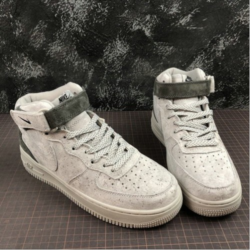 Women's 2019 Reigning Champ x Nike Air Force 1 MID 07 Nirl Grey