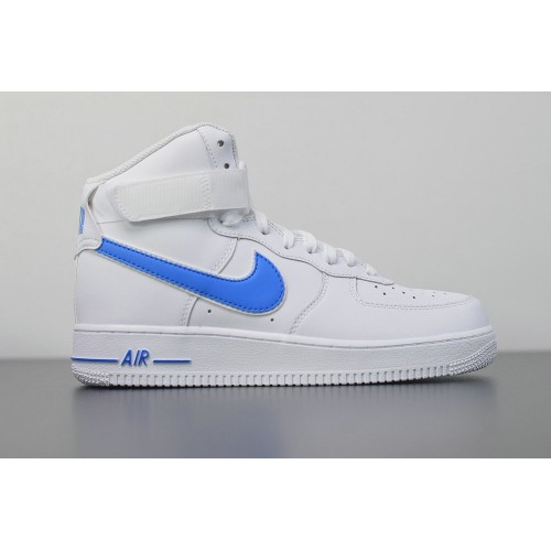 Men's 2019 Nike Air Force 1 High 07 3 White blue AT4141-102