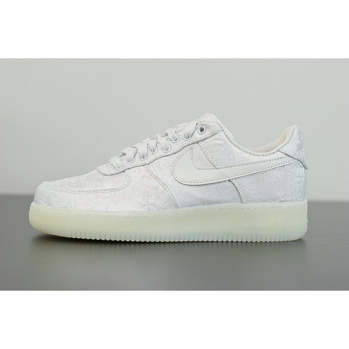 Men's CLOT x Nike Air Force 1 Premium White AO9286-100