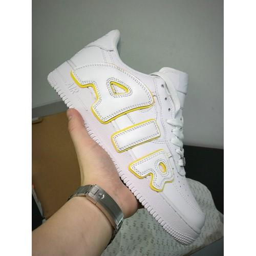 Men's Cactus Plant Flea Market x Nike Custom Air Force 1 Gold Strike-White