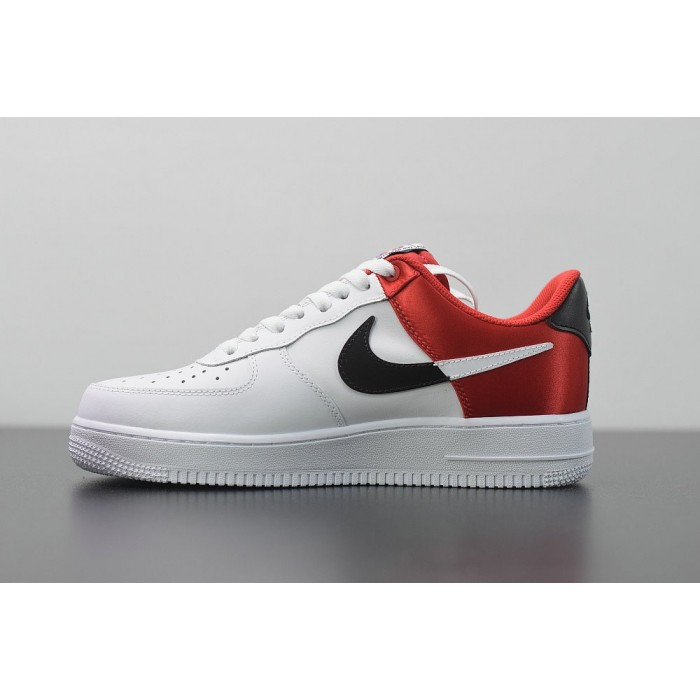 Men's 2019 Nike Air Force 1 07 LV8 White Red BQ4420-600