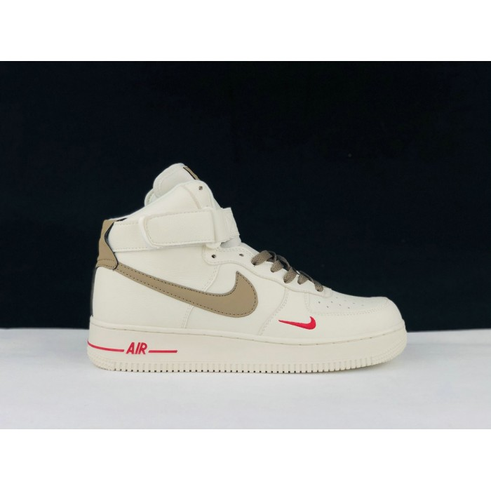 Men's 2019 Nike Air Force 1 High Wheat White Red