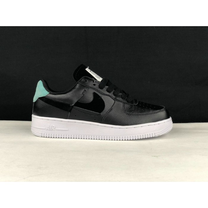 Men's 2019 Nike Air Force 1 Low Inside Out Black Mystic Green
