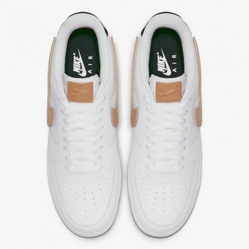 Men's 2019 Nike Air Force 1 Low Obsidian-Vachetta Tan-White