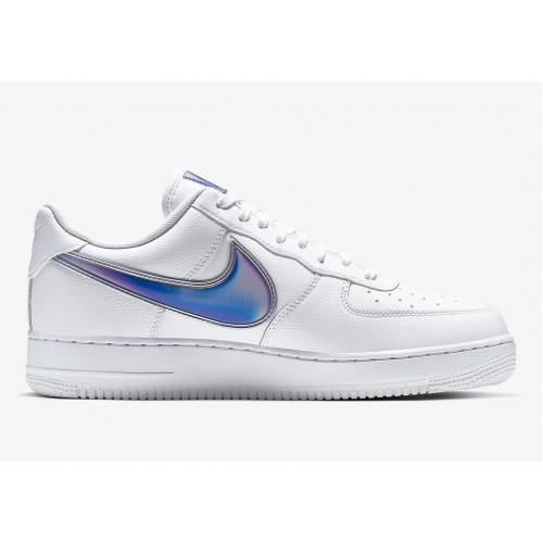 Men's 2019 Nike Air Force 1 Low Oversize Swoosh AO2441-101
