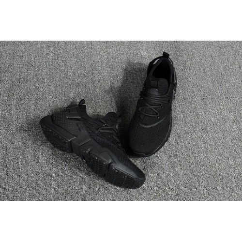 Men's 2018 Nike Air Huarache Flyknit 3D Triple Black Sale