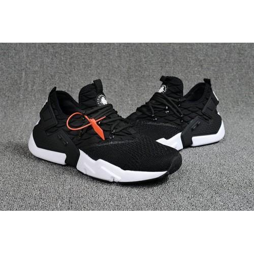 Men's 2018 Nike Air Huarache Flyknit 3D White Black Sale