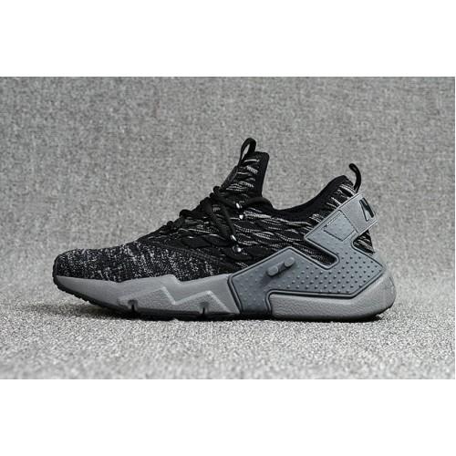 Women's 2018 Nike Air Huarache Grey Black Sale