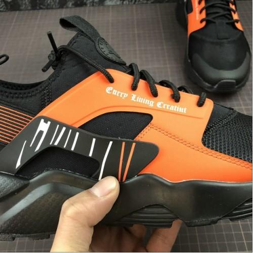 Men's 2019 Nike AIR HUARACHE RUN ULTRA Black Orange Orange
