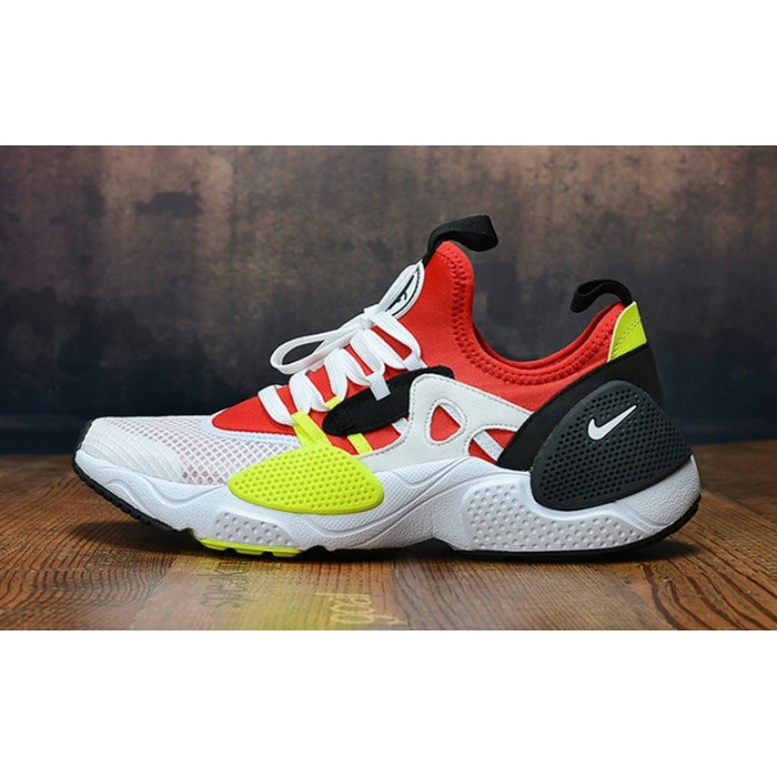Men's 2019 Nike Air Huarache 8 Edge TXT OG Red White Black Yellow