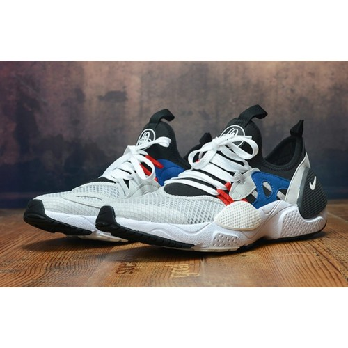 Men's 2019 Nike Air Huarache 8 Edge TXT OG White Black Blue Red