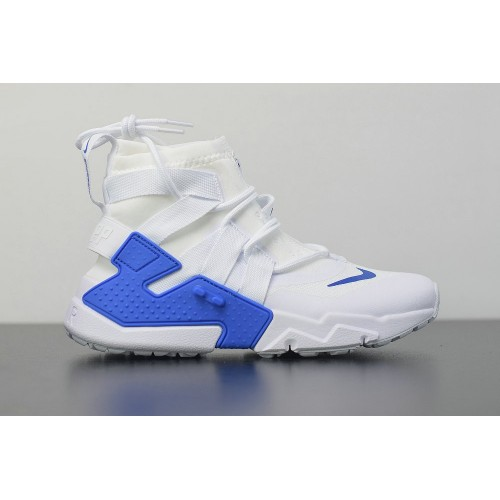 Men's 2019 Nike Air Huarache Gripp White Royal Blue AO1730-014