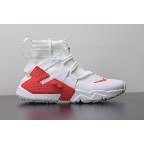 Men's 2019 Nike Air Huarache Gripp White University Red