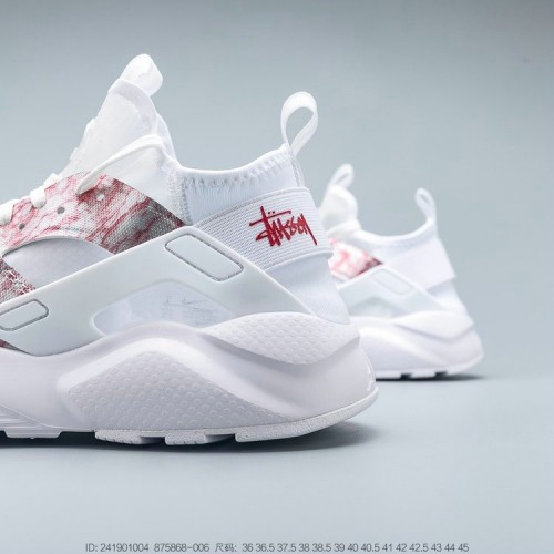 Men's 2019 Nike Air Huarache Run Premium Grey Pink White