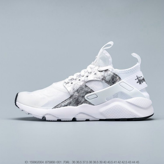 Men's 2019 Nike Air Huarache Run Premium Grey White Black
