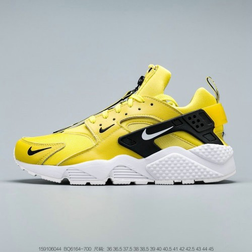 Men's 2019 Nike Air Huarache Run QS Bright Citron White Black