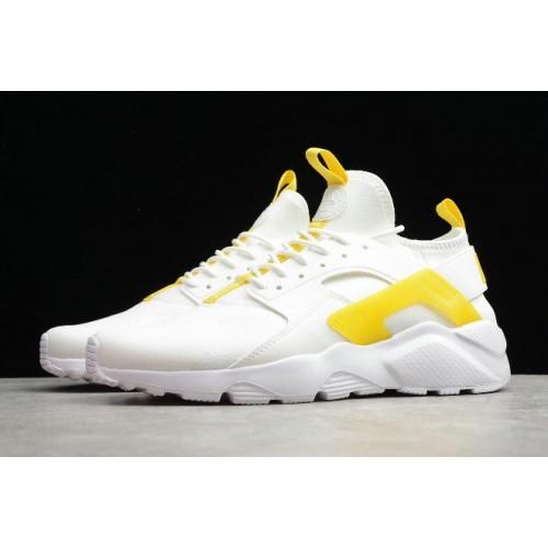 Men's 2019 Nike Air Huarache Ultra Suede ID White Light Yellow