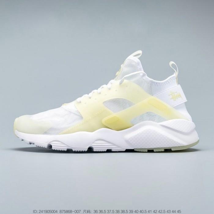 Men's 2019 Nike Air Huarache Ultra Suede ID White Yellow Jaune