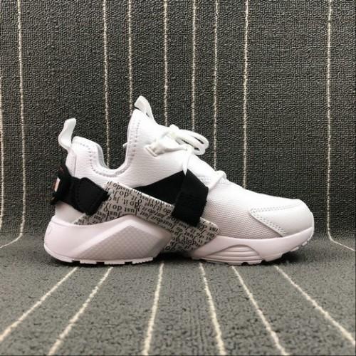 Men's Nike AIR HUARACHE CITY LOW Just do it White Black