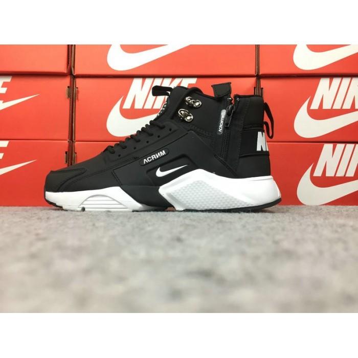 Men's Nike Air Huarache Nike x ACRONYM 856787-001 Total Black