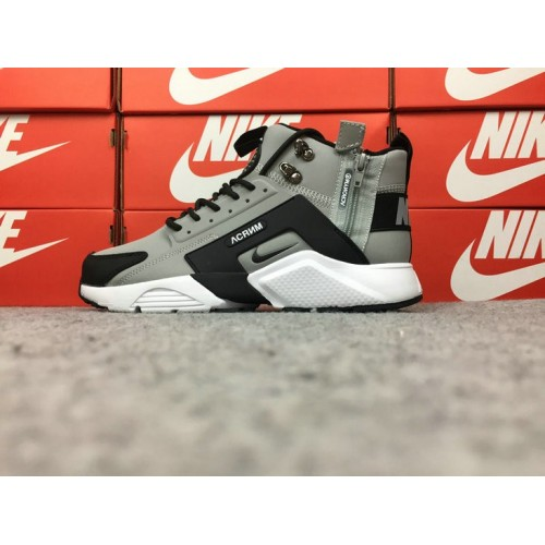 Men's Nike Air Huarache Nike x ACRONYM 856787-100 Grey Black
