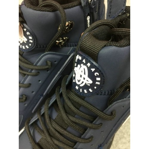 Men's Nike Air Huarache Nike x ACRONYM Navy Blue White Black