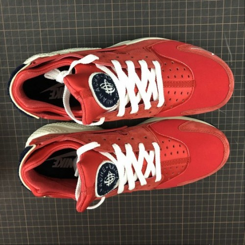 Men's Nike Air Huarache Run PRM University Red Sail Rouge Voile