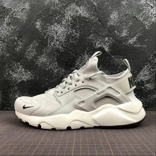 Men's Nike Air Huarache Run PRM 829669-101 Grey Black White